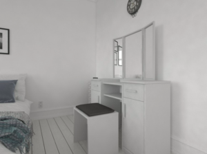 Toaletní stolek pro ženu